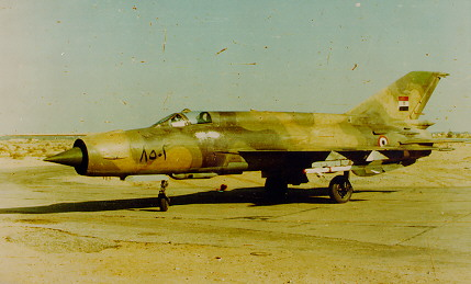 Avions HS n°37 : la guerre du Kippour Mig21egy